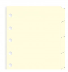 Blank Index Pocket Cream - Five Tabs