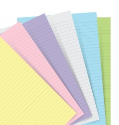 Filofax Notebook Pastello a righe Refill